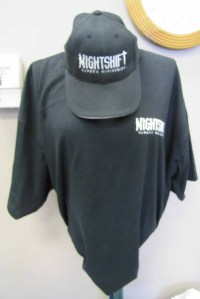 NightShift cap and t-shirt